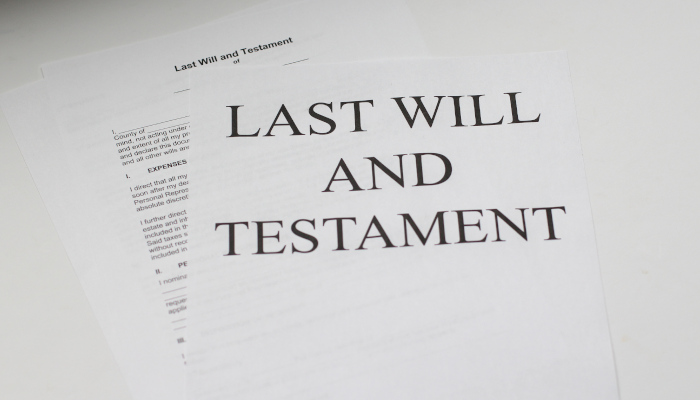 Last will and testament examples